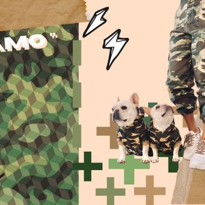 The Dog Mom Army Camo Outfit!